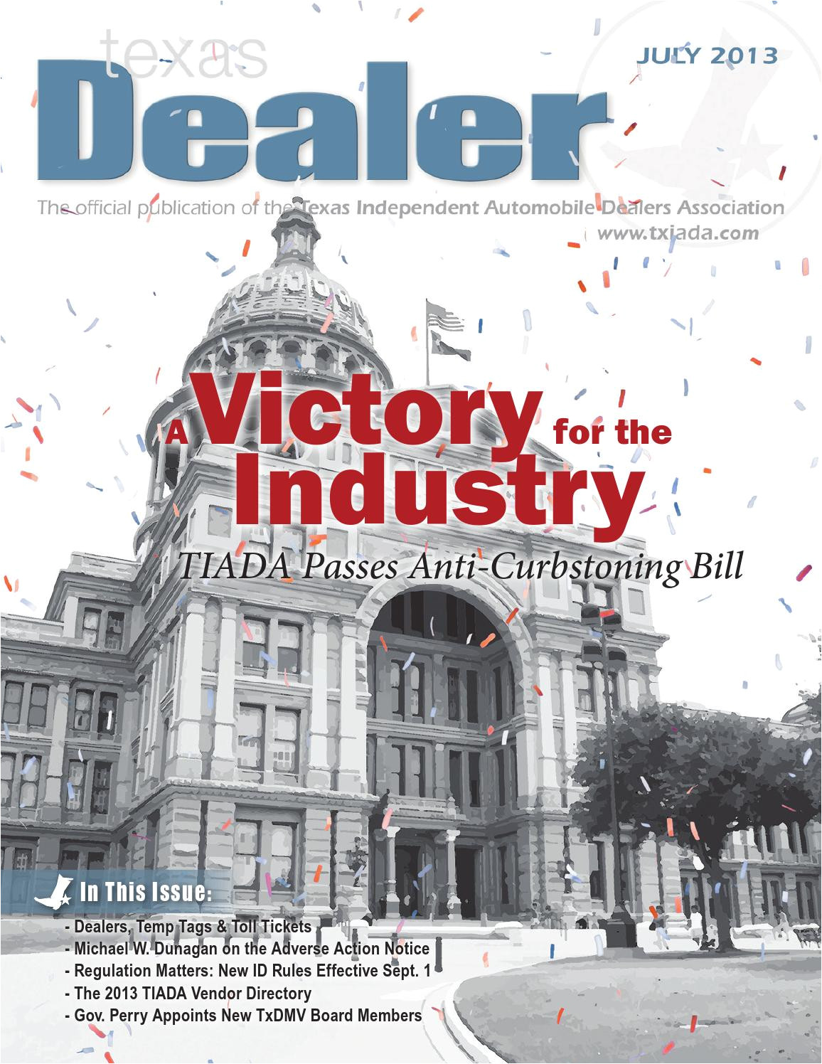 texas dealer july 2013 by texas independent auto dealers association issuu