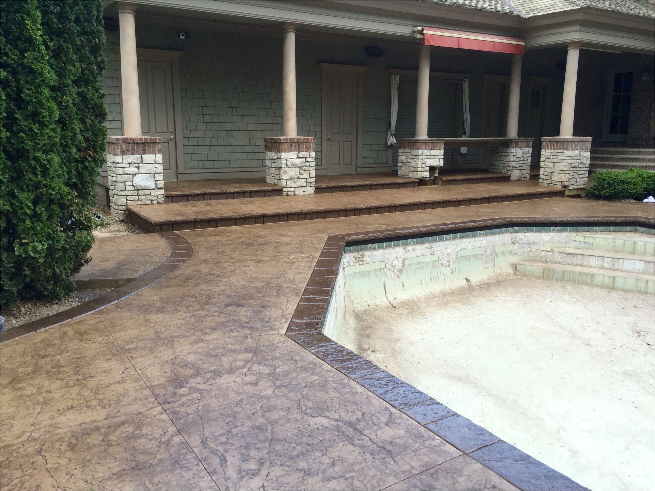 pin by dana eline on pools concrete borders pool decks deck backyard