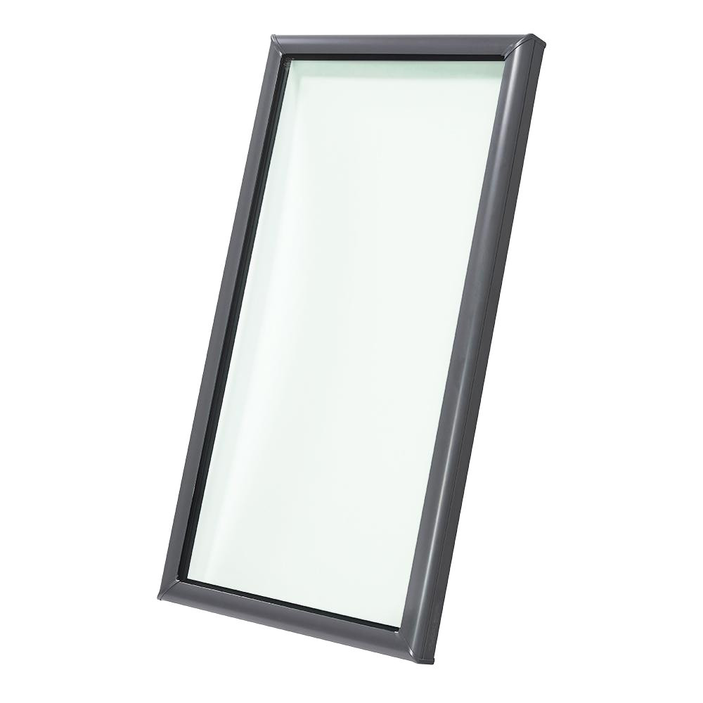 velux 22 1 2 in x 46 1 2 in fixed curb mount skylight with tempered low e3 glass