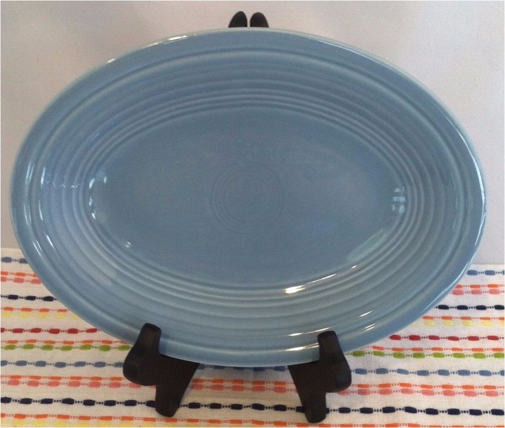 fiestaware periwinkle small platter fiesta old style blue gravy underplate fiestaware fiesta periwinkle