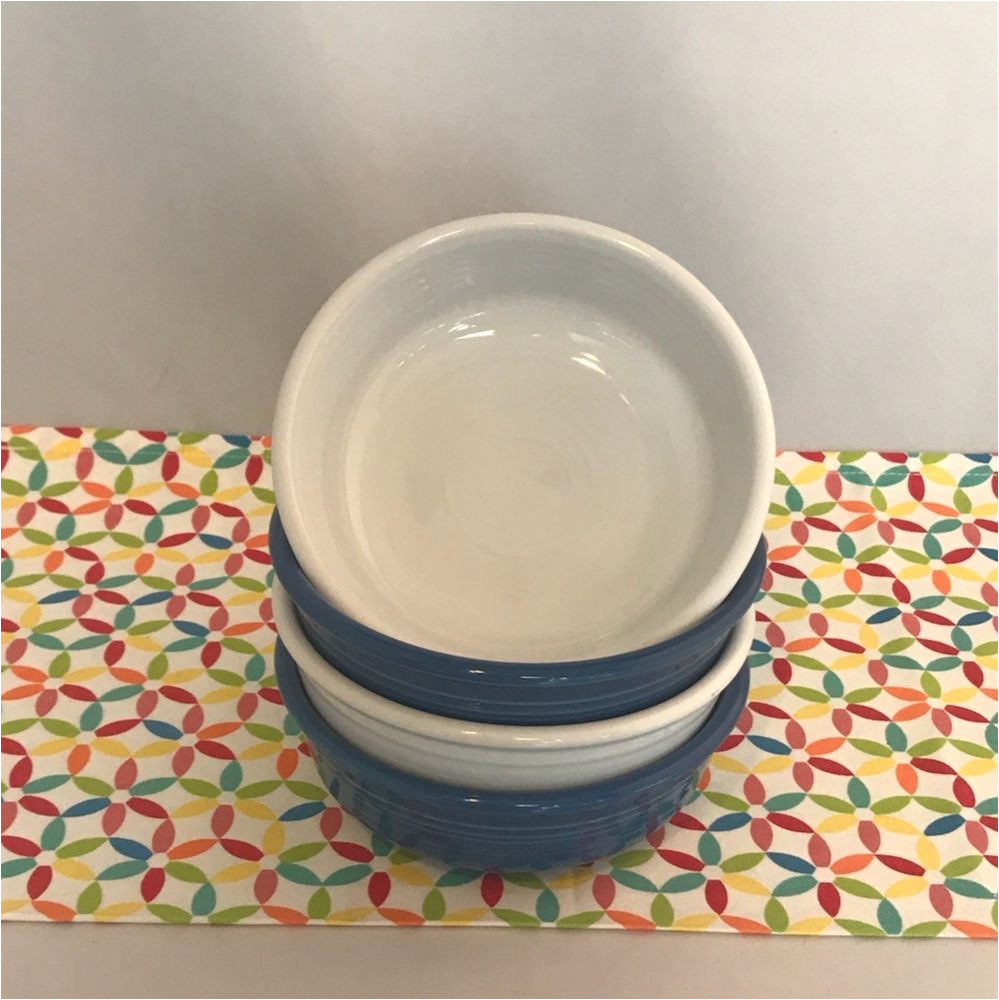 fiestaware small bowl fiesta lapis white 14 oz cereal bowls lot of 4 fiestaware