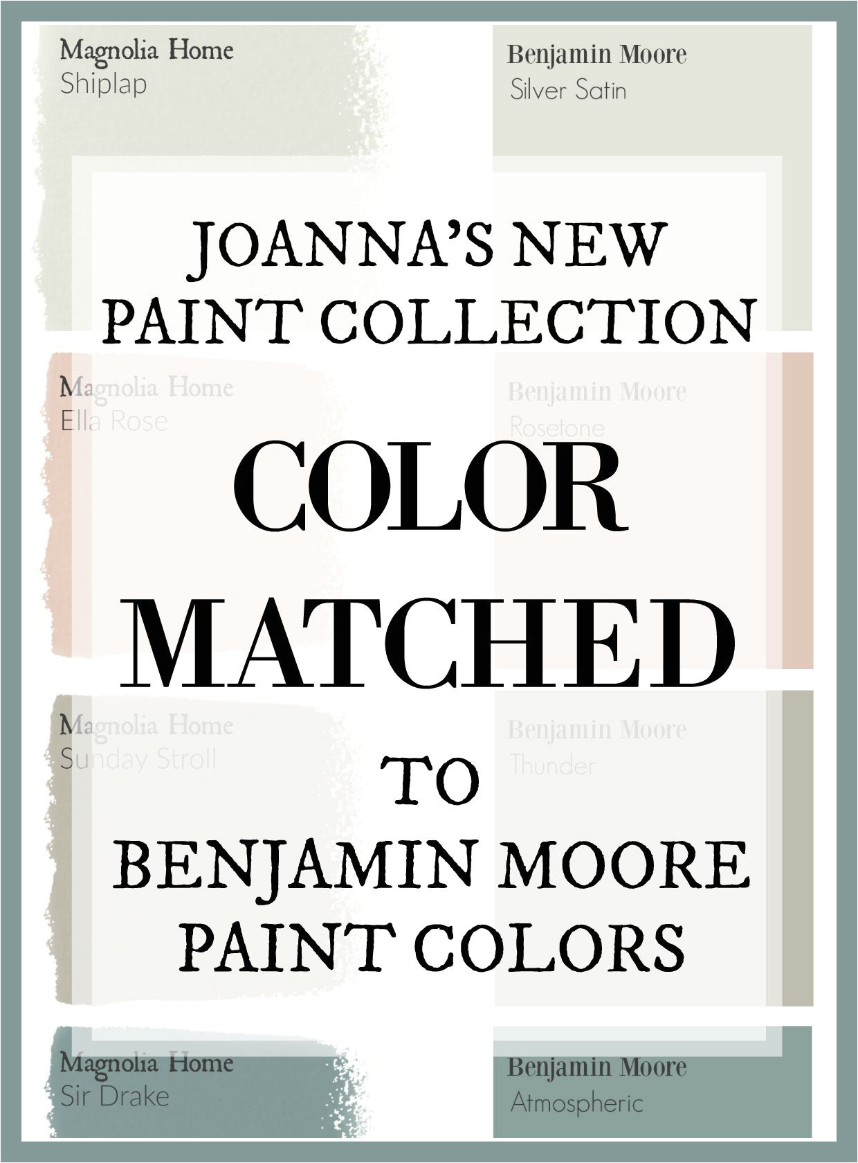 fixer upper s joanna gaines has a new paint line and this site has color matched