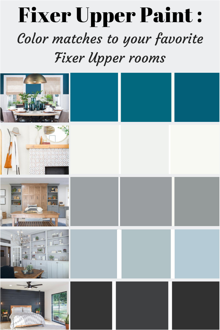 fixer upper paint color matches joanna gaines favorite paint colors palettes used on fixer upper fixerupper farmhouse joannagaines