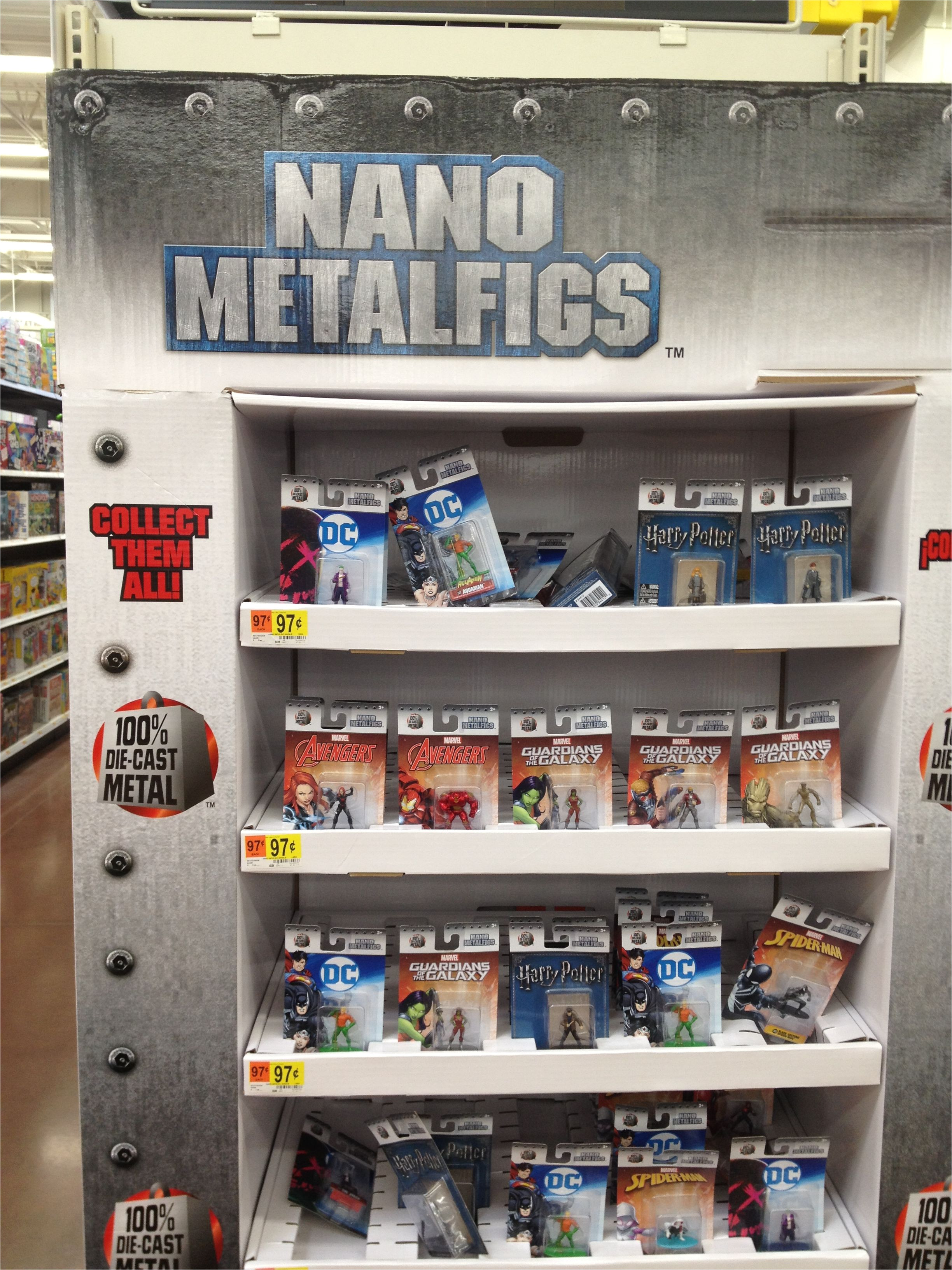 nano metalfigs walnart display