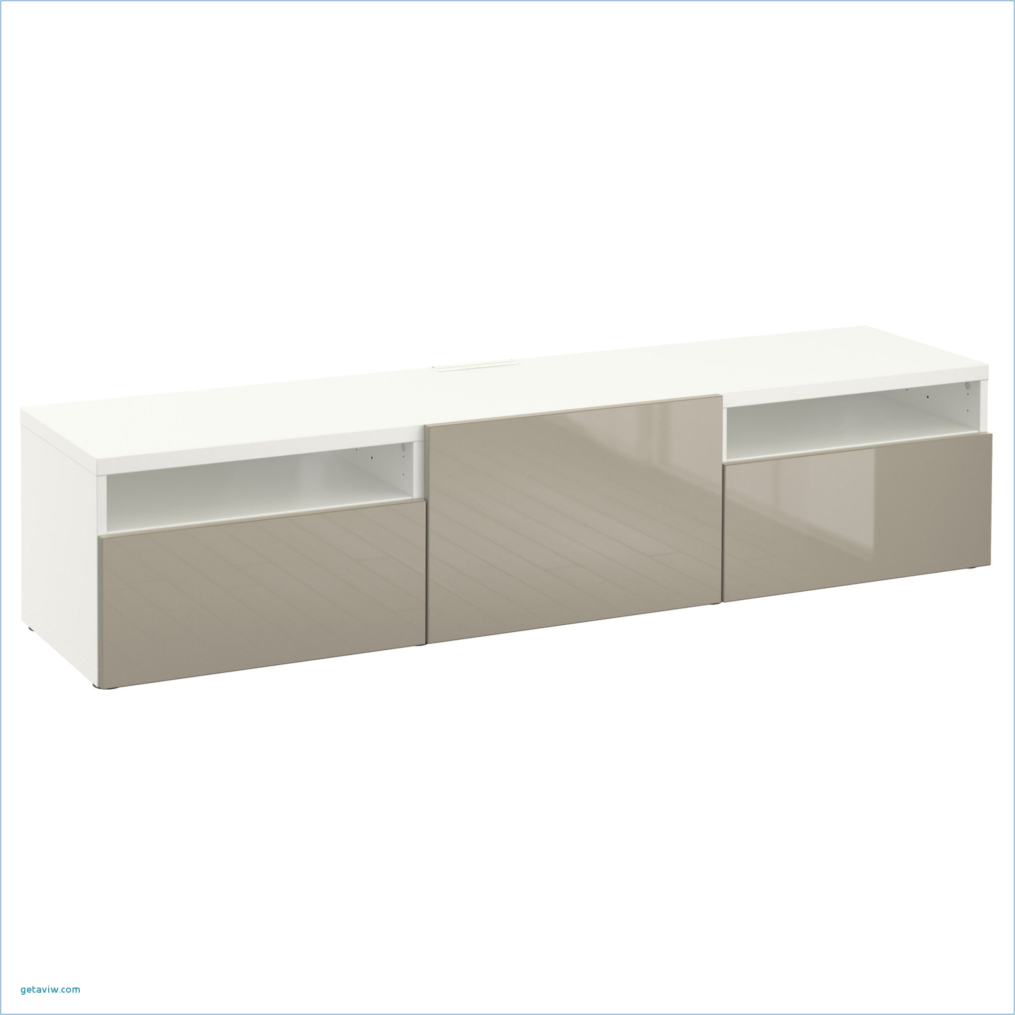 ikea best tv bench white selsviken high gloss beige cm the drawers and door have