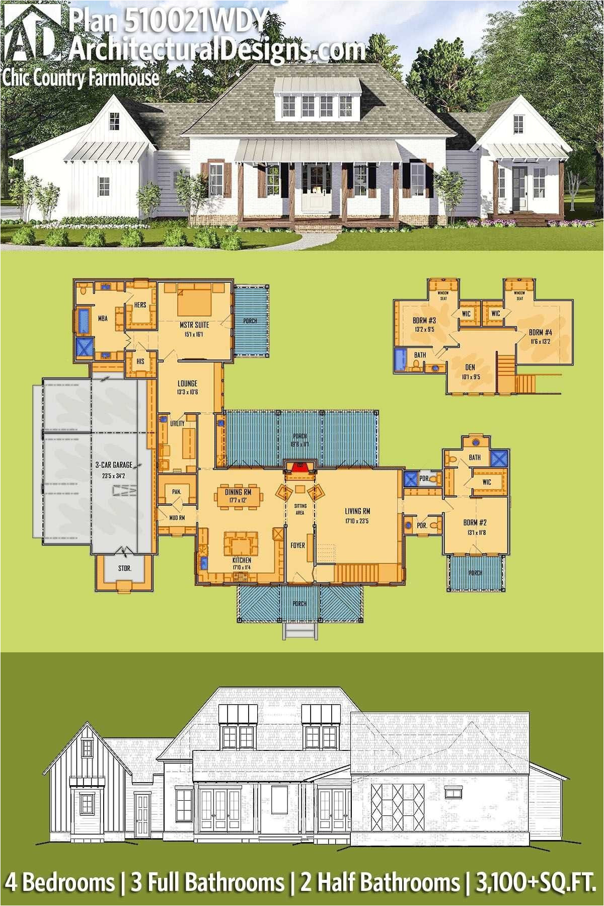 federal style house plans lovely colonial house plans 3 car garage best lexar homes floor plans