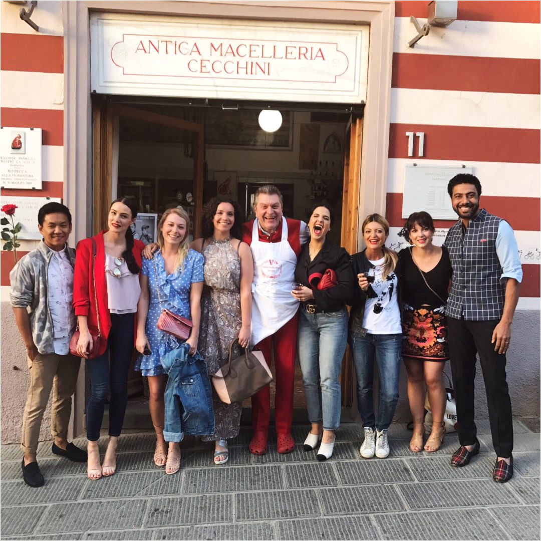 there is this special restaurant officina della bistecca owned by the family butcher dario cecchini who is one of the most