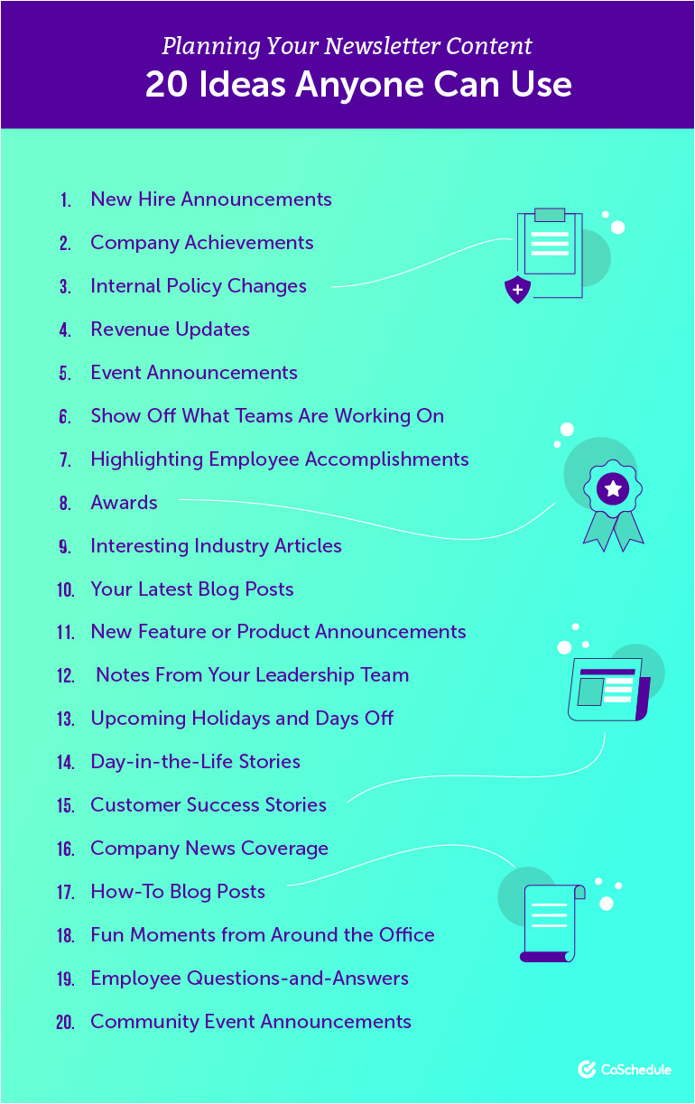 20 employee newsletter ideas anyone can use