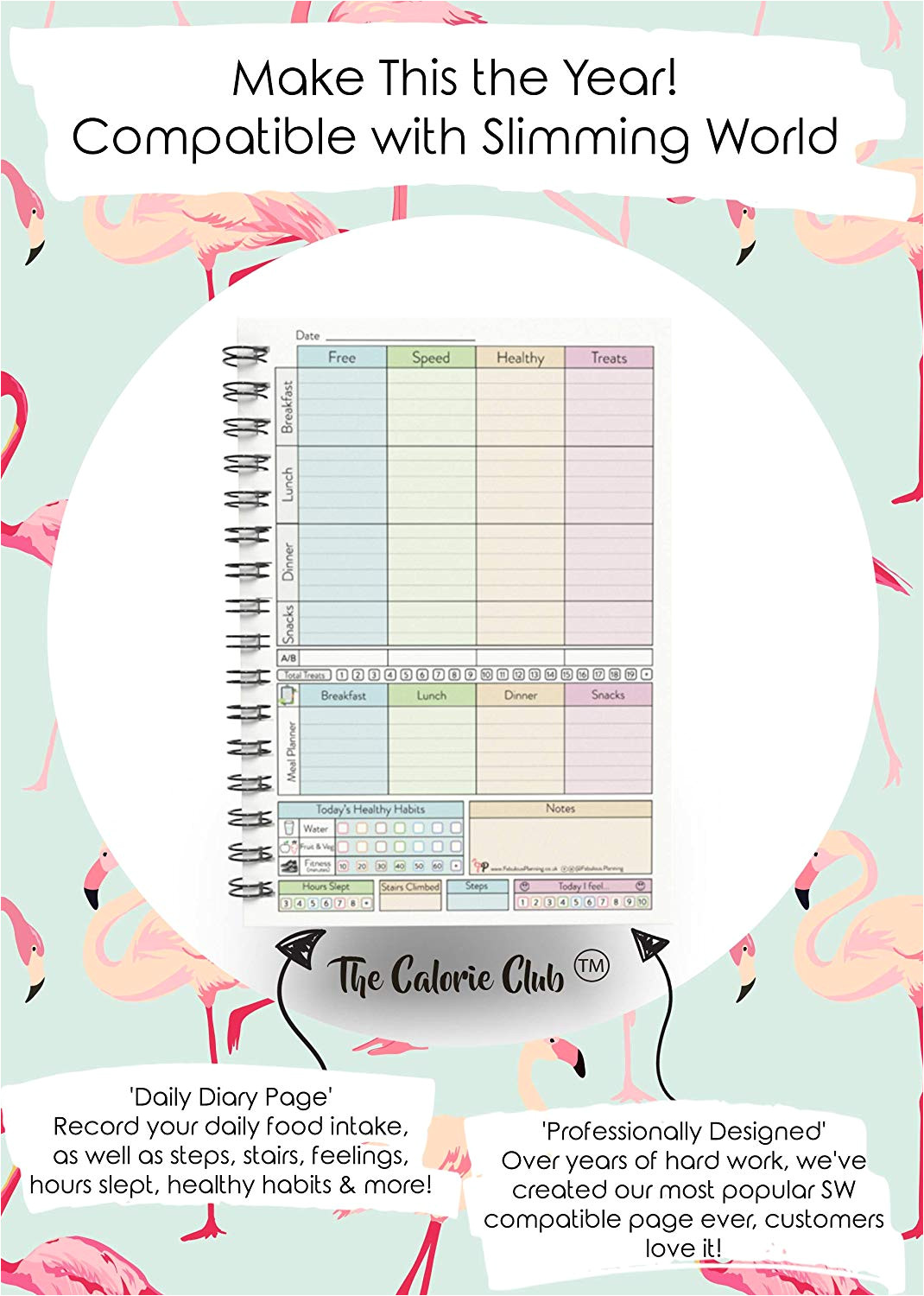 tracker food diary diet slimming world compatible 3 month planner log book 2019 46 amazon co uk office products