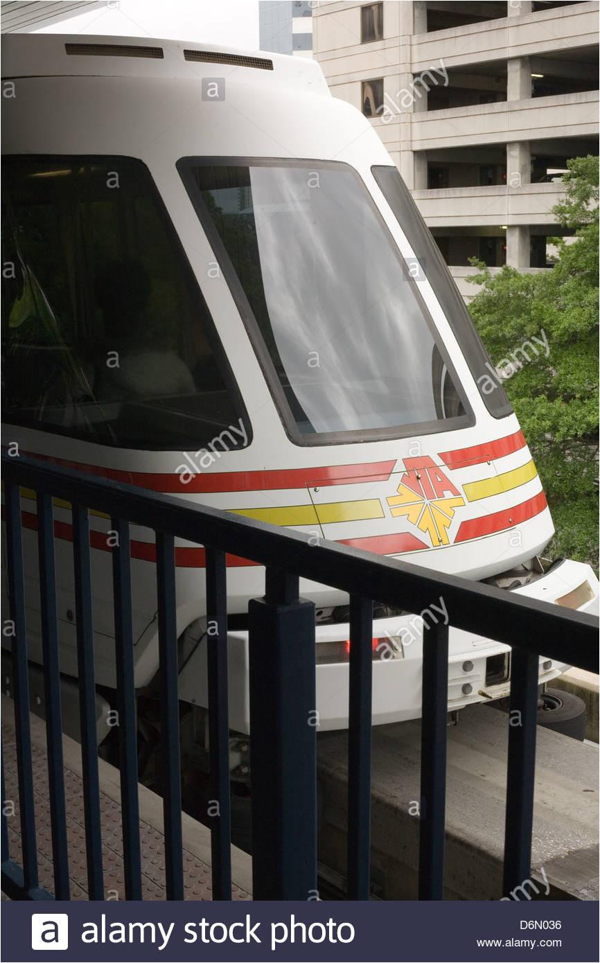skyway train in jacksonville florida stock image