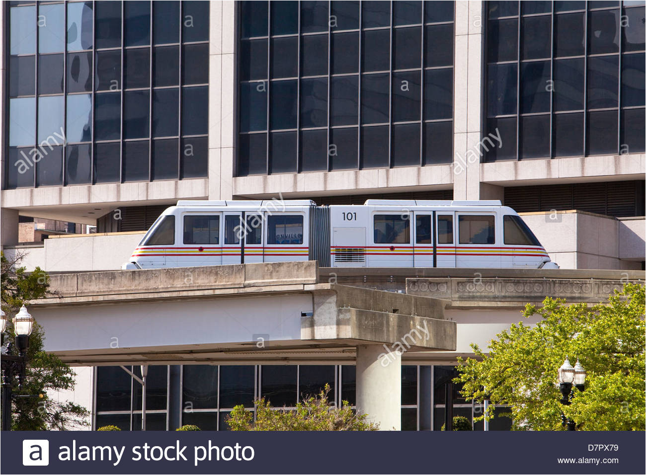 a jta skyway people mover is seen in jacksonville florida stock image