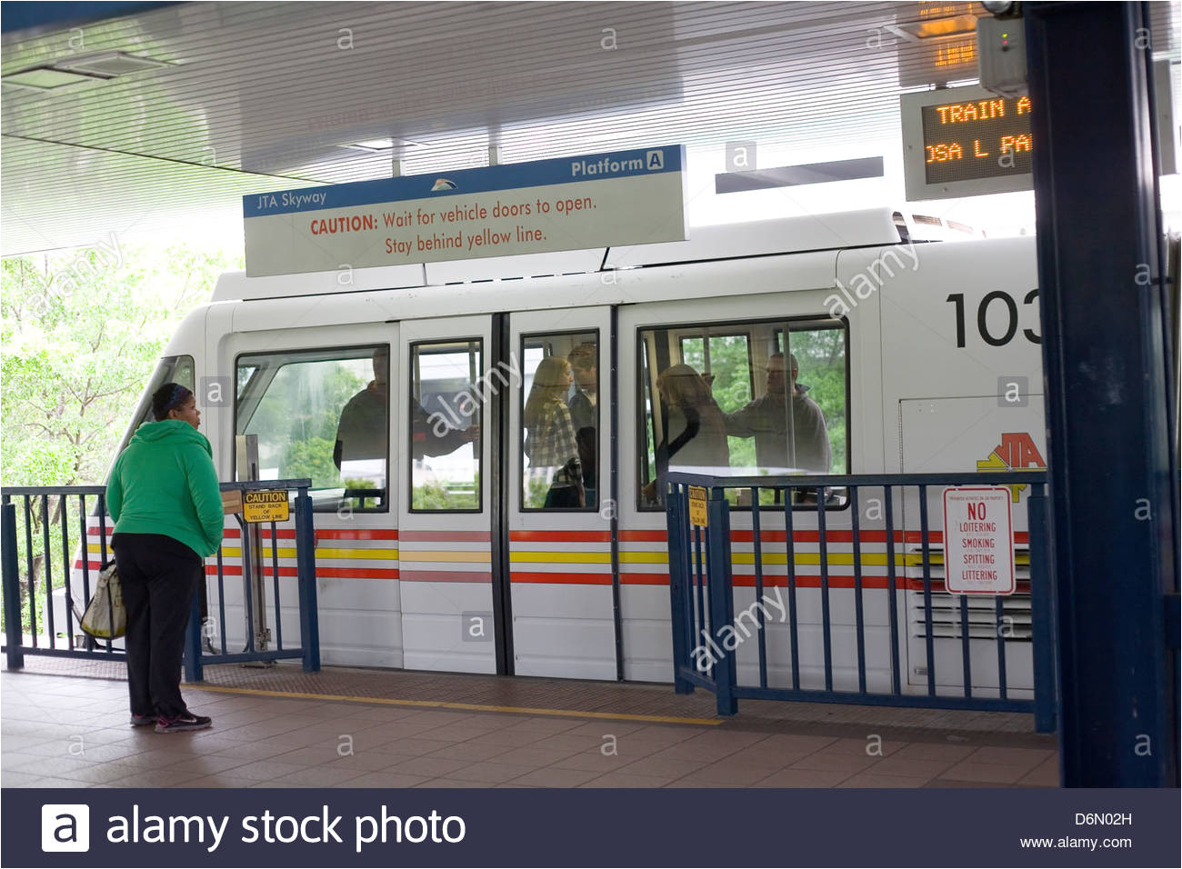 skyway train station in downtown jacksonville florida stock image