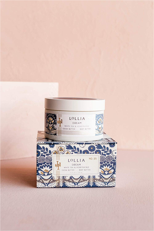 amazon com lollia dream whipped body butter margot elena s white tea honeysuckle body cream 5 5 oz beauty
