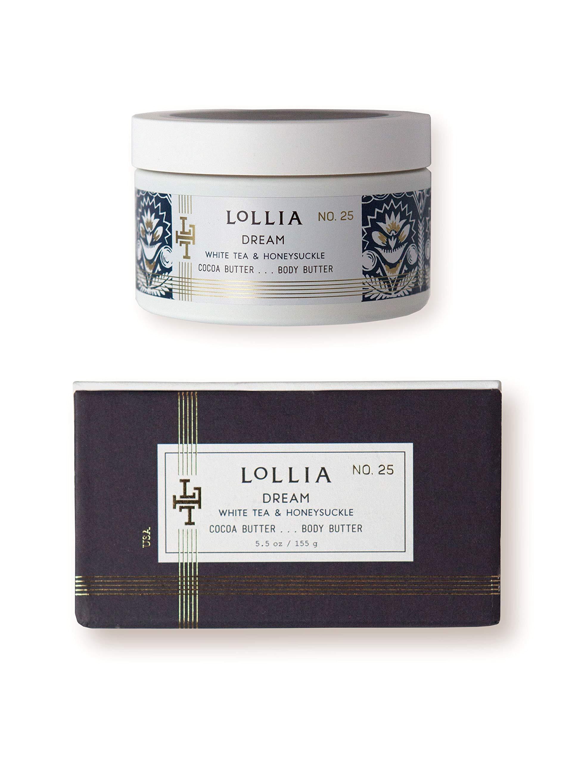 lollia dream whipped body butter margot elena s white tea honeysuckle body cream 5 5 oz