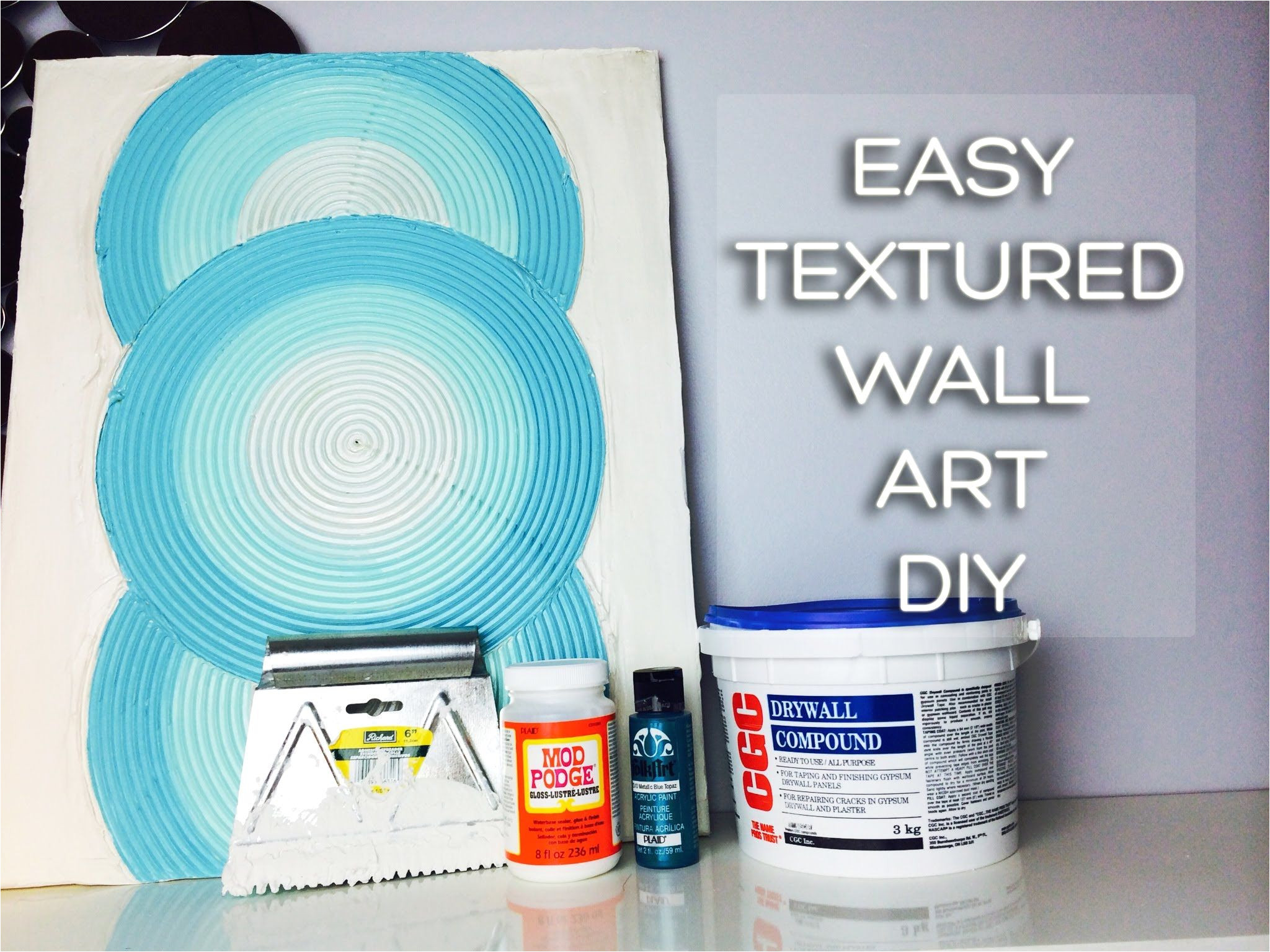 try a new medium drywall mud can be used on canvas or walls check out these tips drywallmud artistmediums clay www onemorepress com