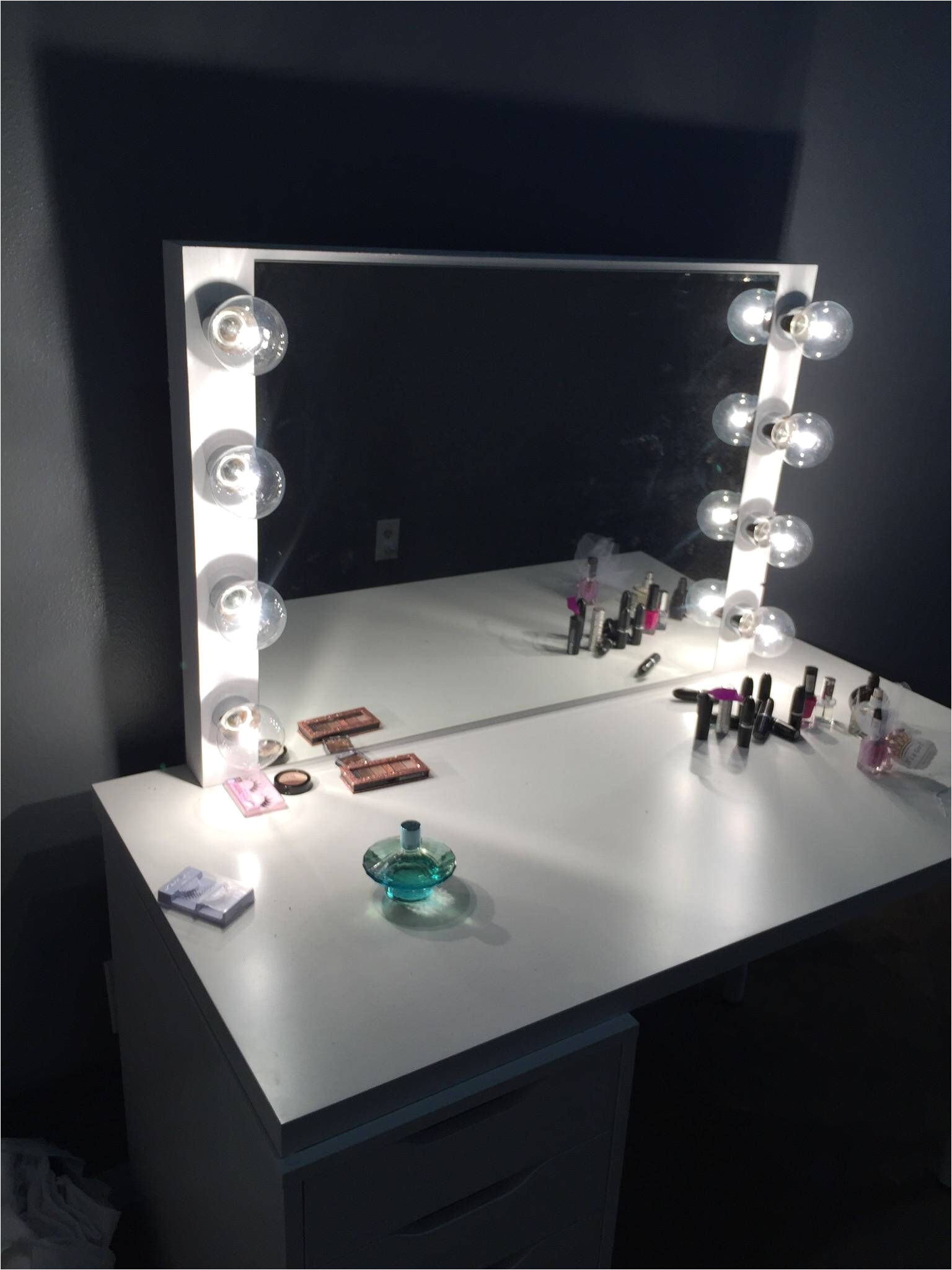 hollywood vanity mirror perfect for ikea vanity bulbs not included