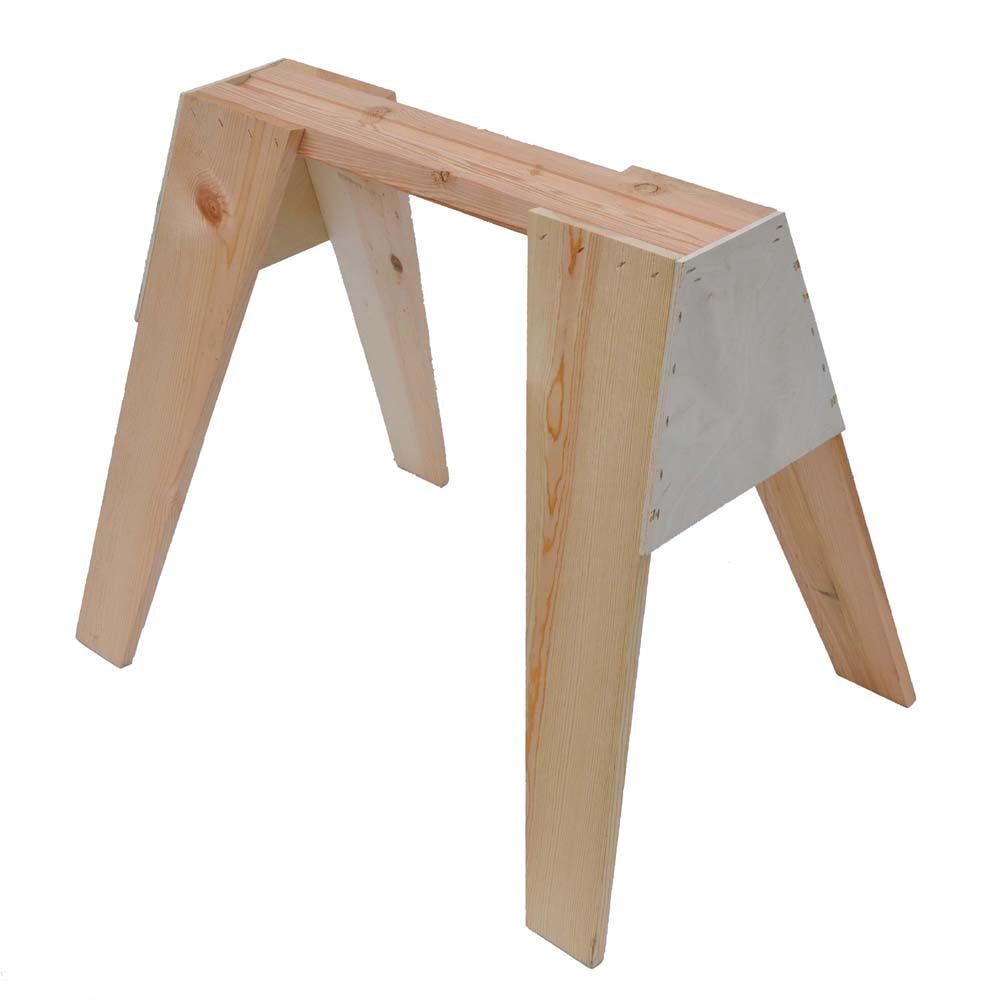signature development 29 in wooden sawhorse