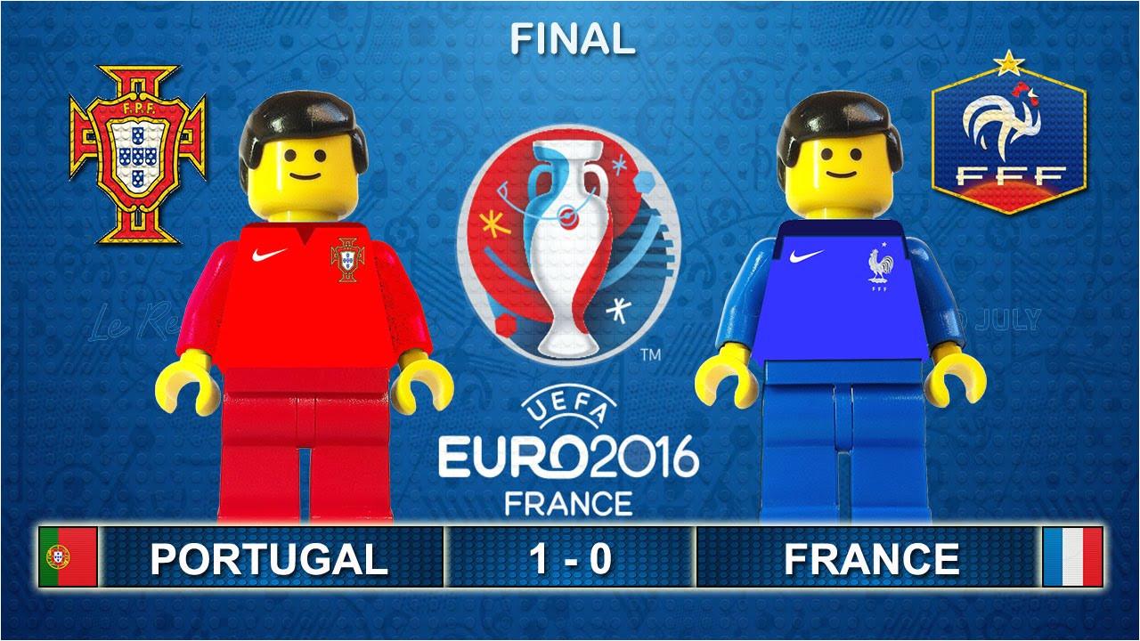 euro 2016 final portugal vs france 1 0 film in lego football highlights youtube
