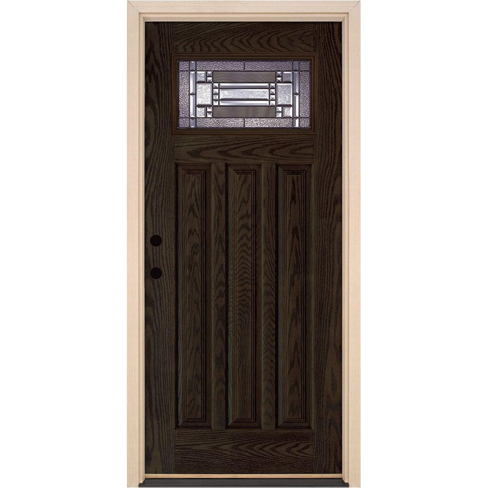 feather river doors 37 5 in x 81 625 in preston patina craftsman 1 4