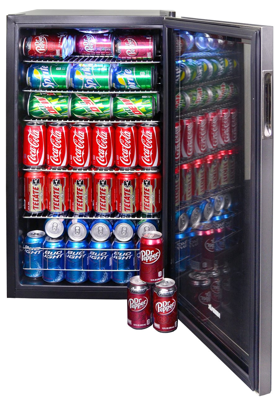 newair 126 can freestanding stainless steel beverage fridge ab 1200