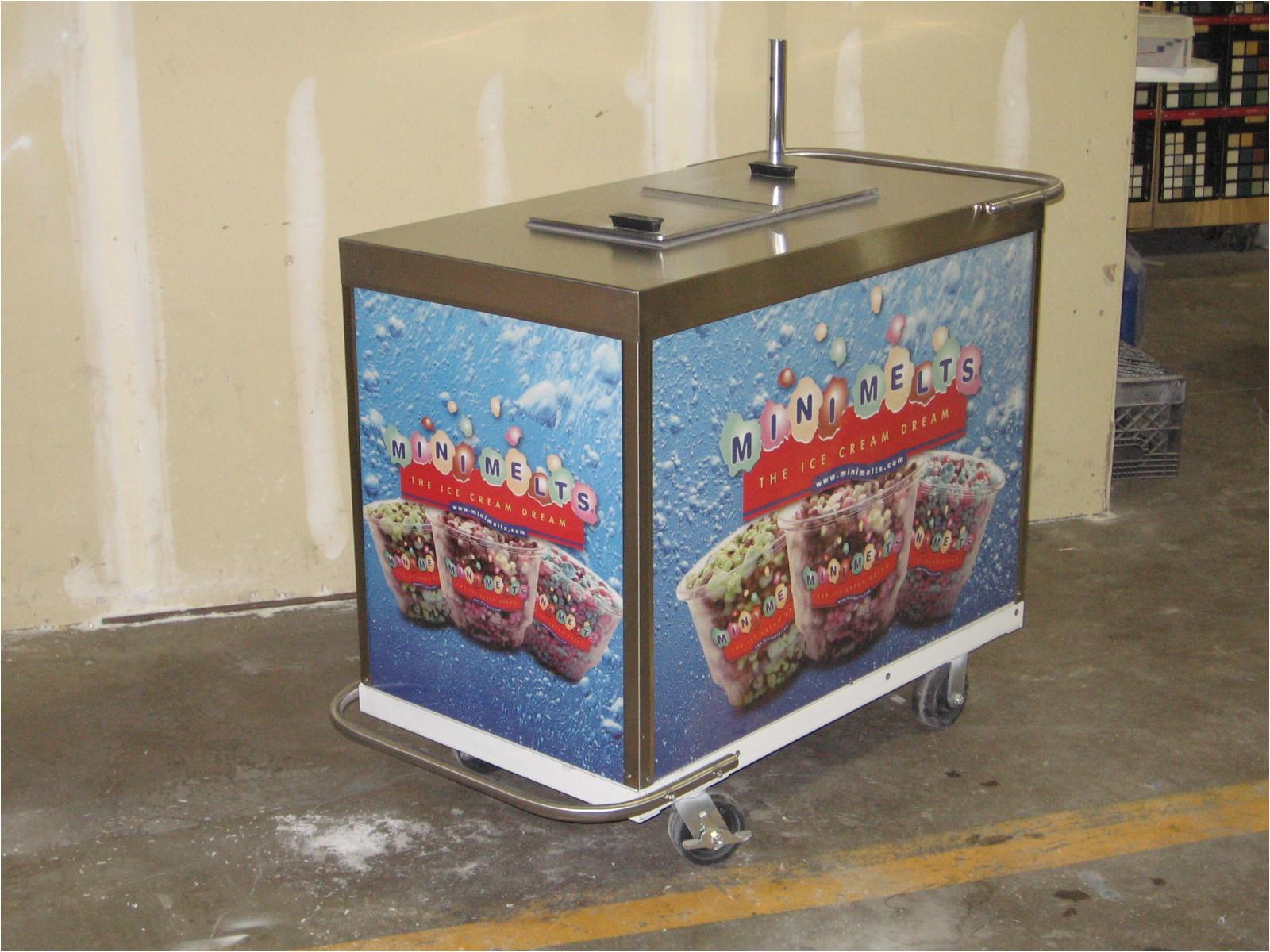 mini melts ice cream cart