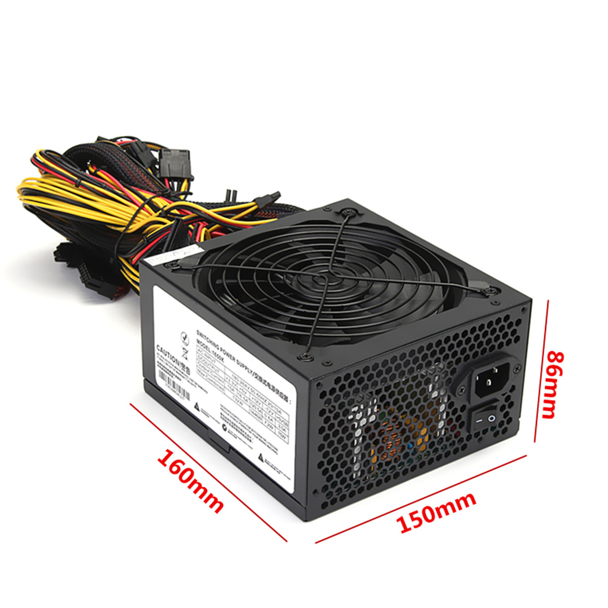 1650w power supply for 6gpu eth rig ethereum coin miner mining bitcoin