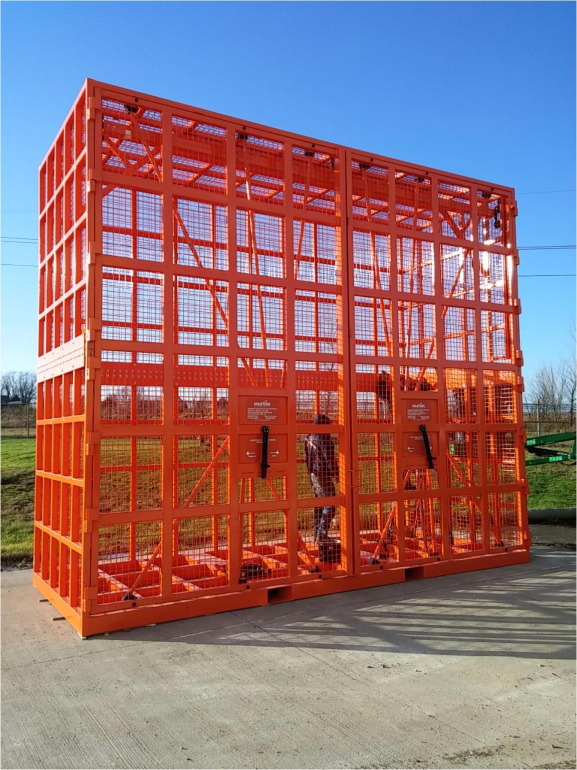 otr mining tyres hd inflation cage 4069 mm doors open