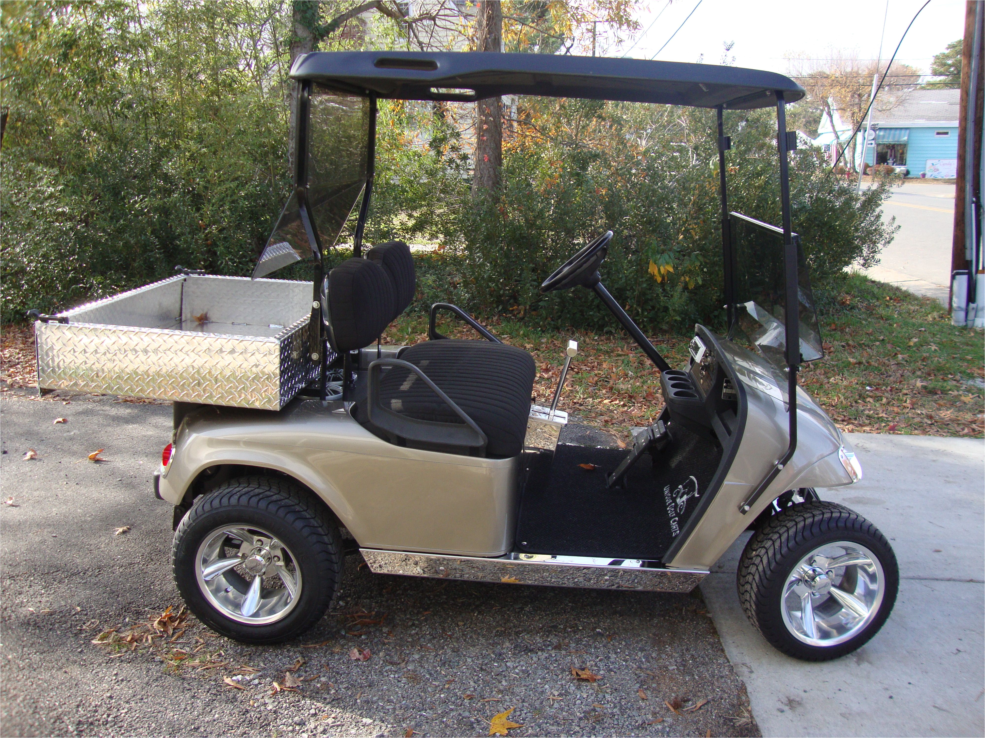 golf cart painted almond pearl gas with high performance header mine cart golf score
