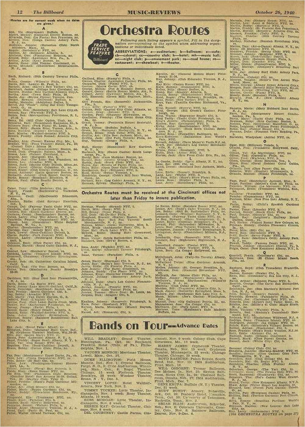 i caett 12 the lilltboard music reviews october 26 1940