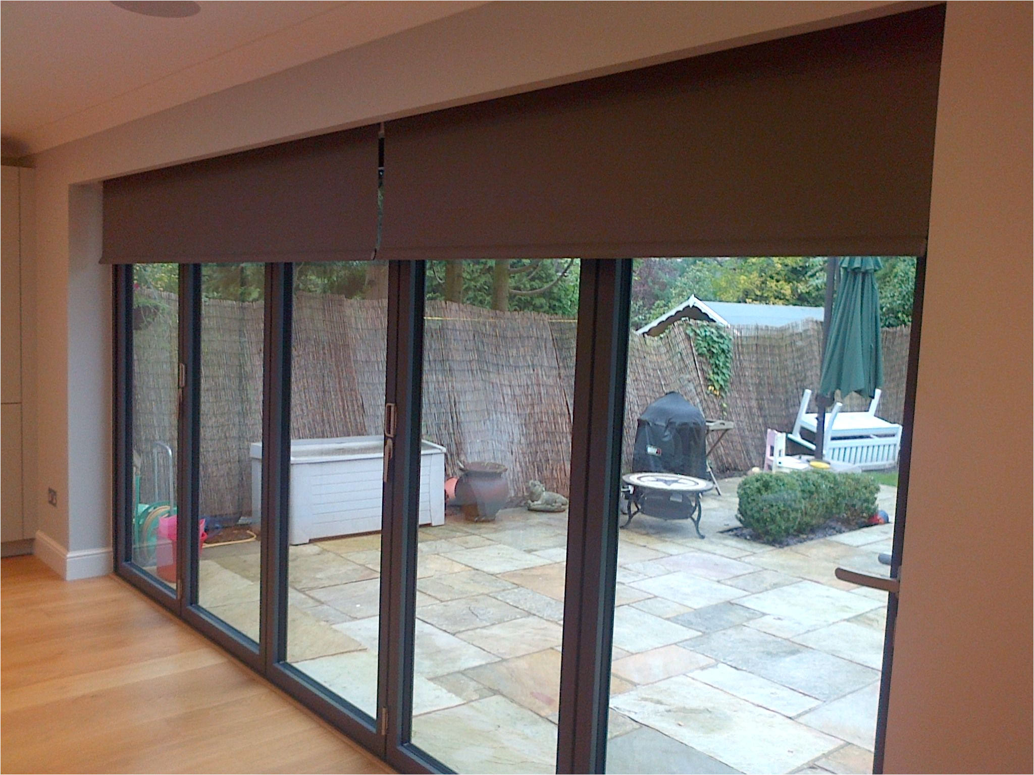 press one button and work all of your electric blinds together by deans blinds awnings