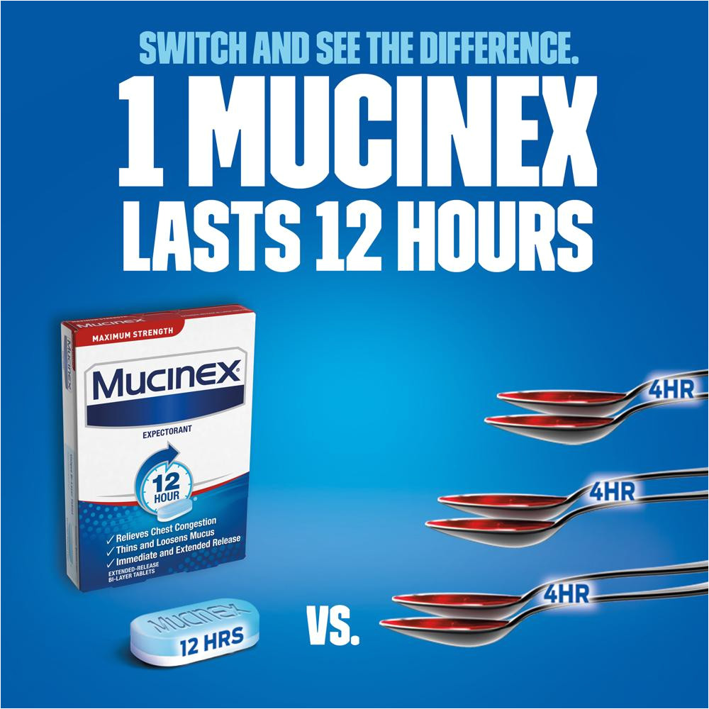 mucinexa maximum strength 12 hour chest congestion expectorant tablets
