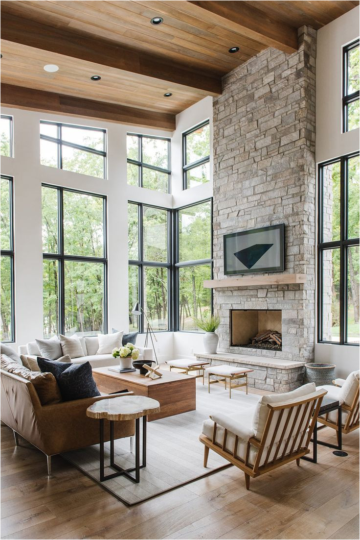 modern lake house living room tour in 2019 interior casas muebles salon decoracion sala comedor
