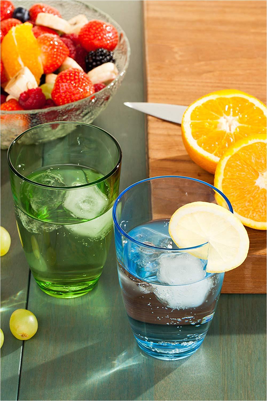 tivoli farbige glaser rio 6 teiliges set 350 ml wasserglaser in grun spulmaschinenfest amazon de kuche haushalt