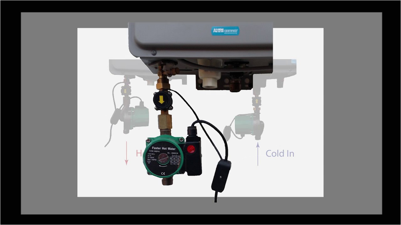 how to install a hot water circulation pump on a tankless water heater