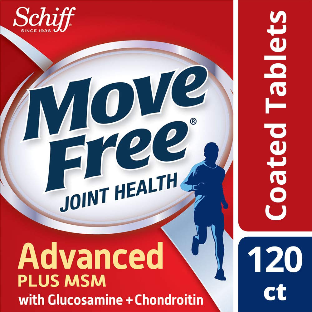 amazon com move free advanced plus msm 120 tablets joint health supplement with glucosamine and chondroitin health personal care