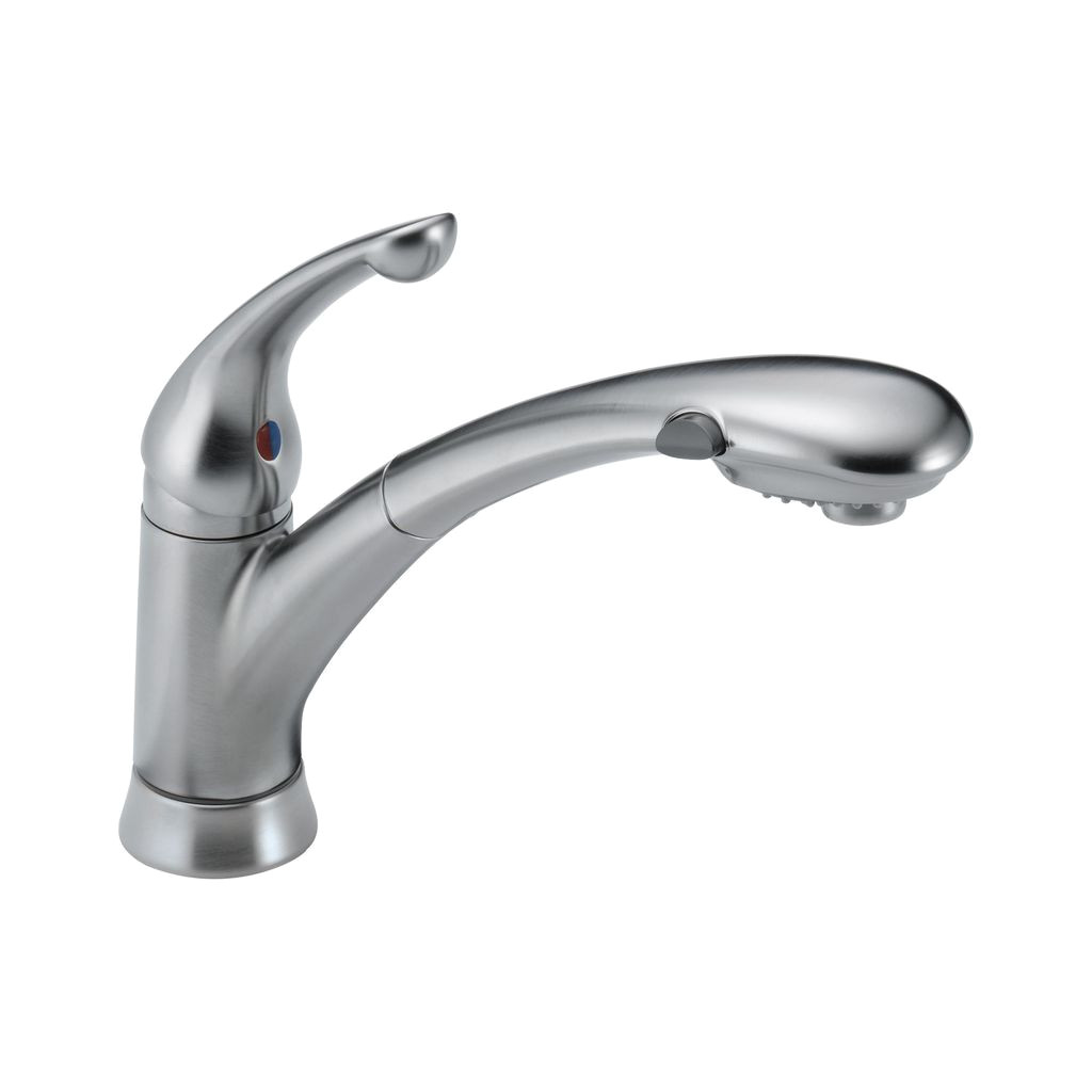 Non Removable Faucet Aerator Delta 470 Signature Single Handle Pull Out Kitchen Faucet Arctic