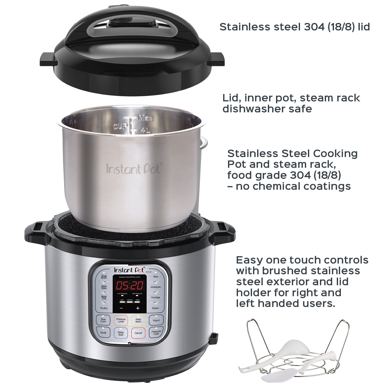 instant pot duo60 6 qt 7 in 1 multi use programmable pressure cooker slow cooker rice cooker steamer saute yogurt maker and warmer walmart com