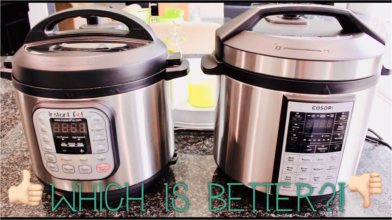 the battle of the pressure cookers cosori or instant pot