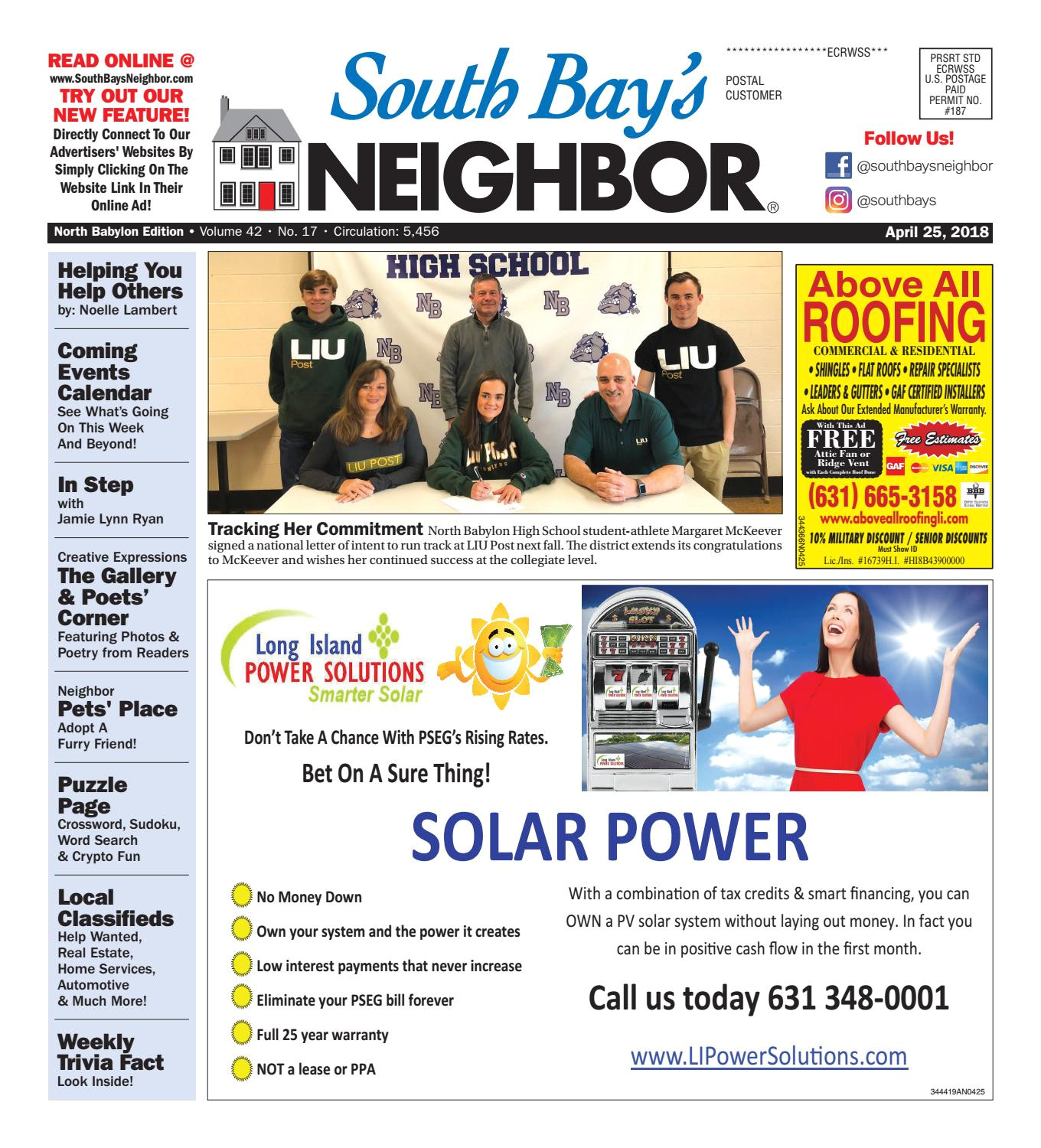 april 25th 2018 north babylon by south bay s neighbor newspapers issuu