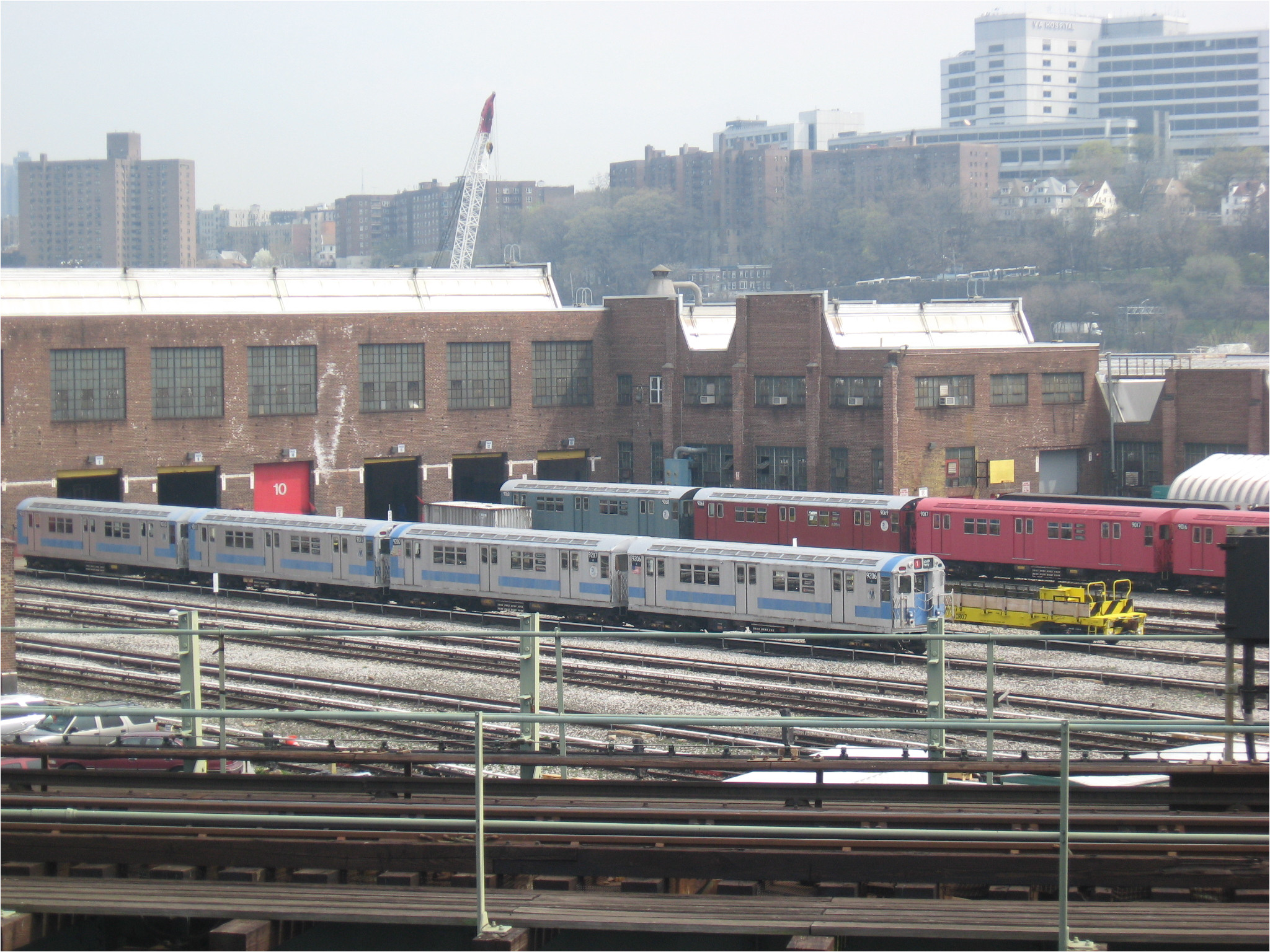 207th street yard train of many colors jpg