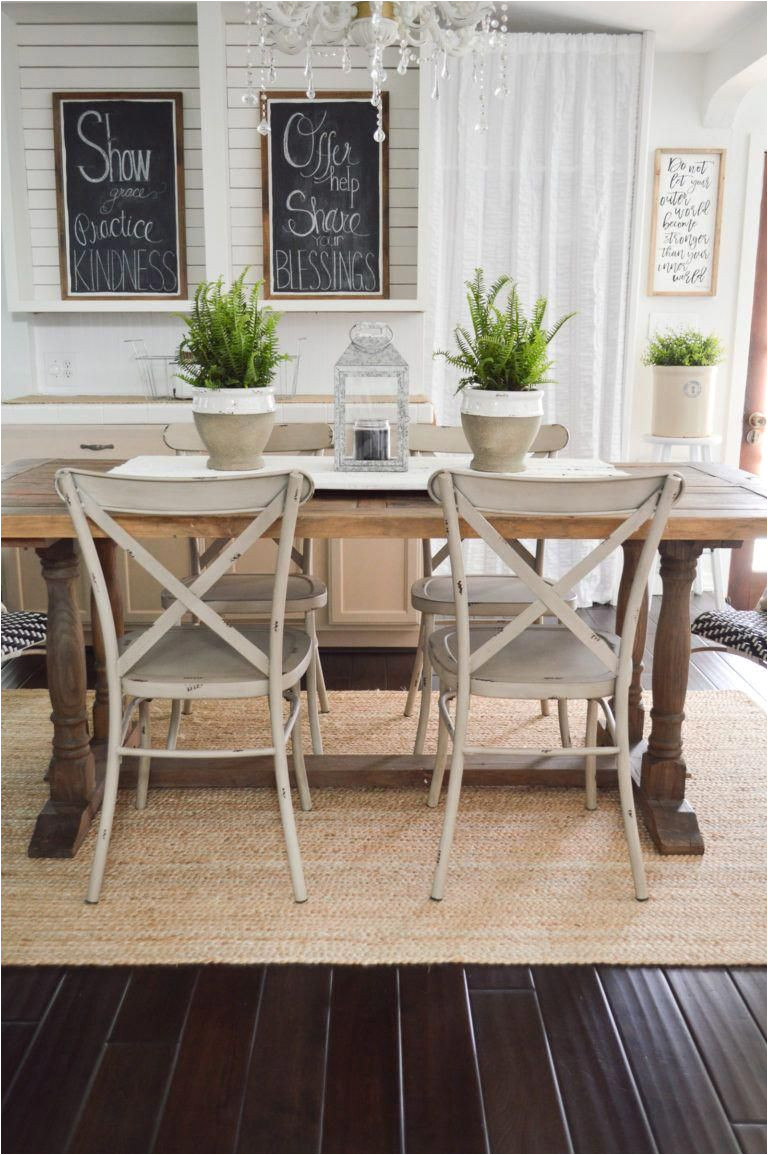 outdoor in spring home decor and furniture ideas sponsored with better homes gardens at walmart shiplap chalkboard farmhouse farm table metal dining