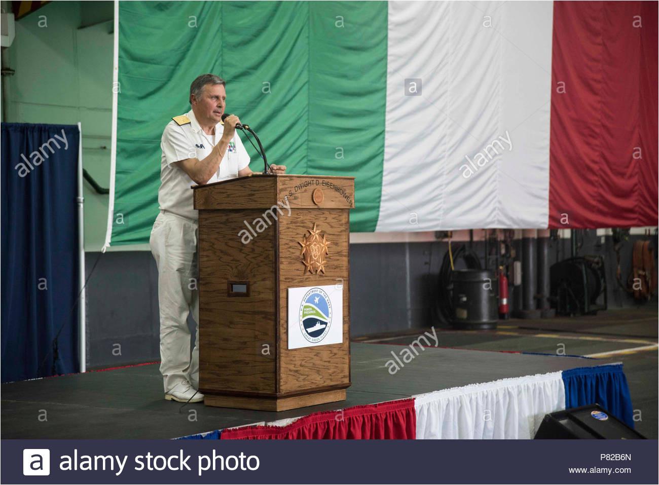 italy june 18 2016 vice adm donato marzano commander of