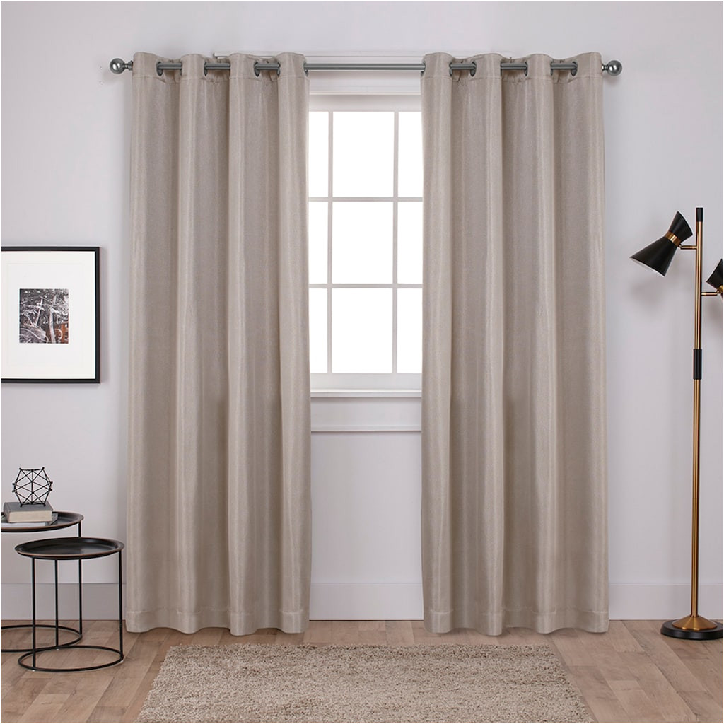 exclusive home 2 pack carling basket weave textured woven blackout window curtains white