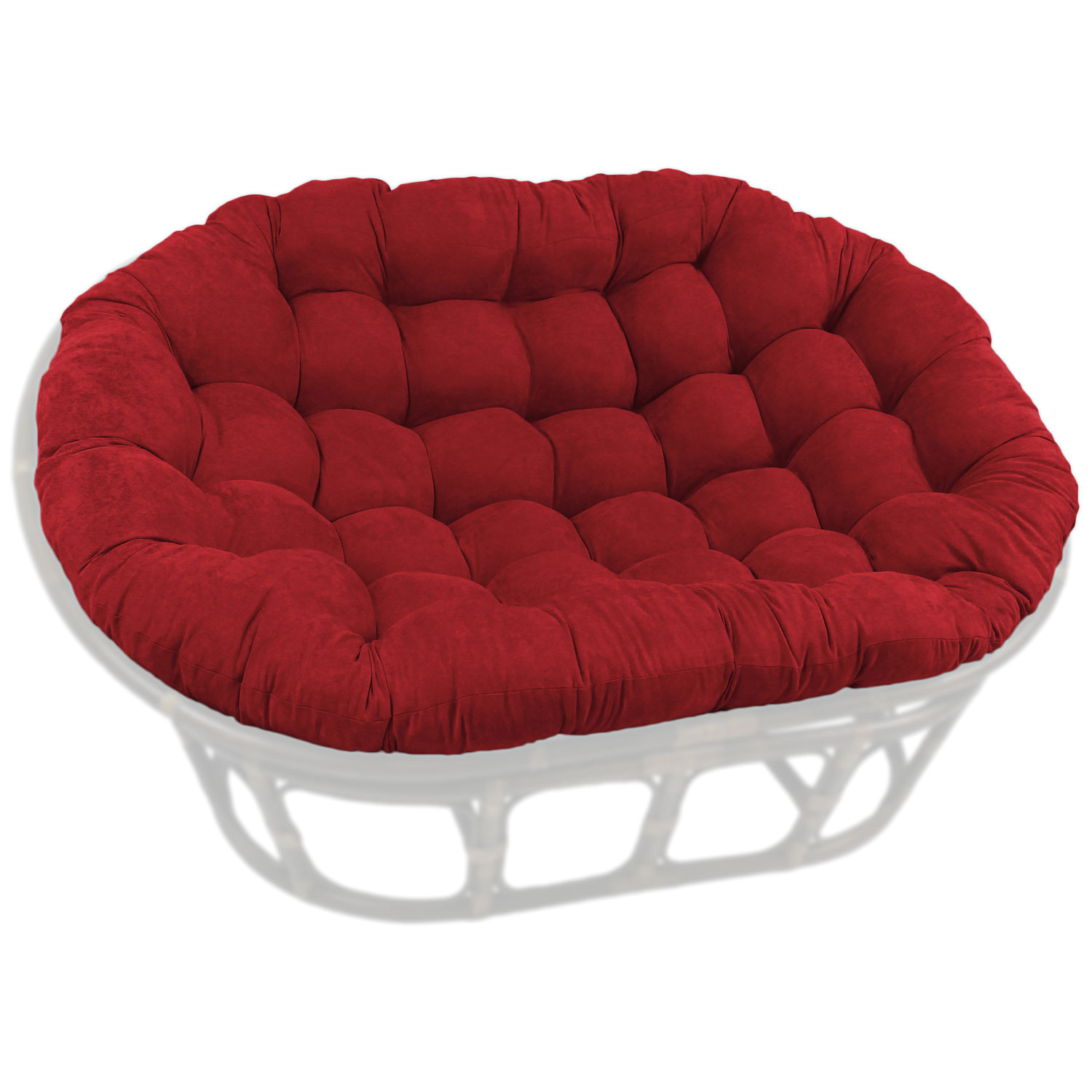78 x 58 oversized double papasan cushion tufted microsuede chair outdoor d