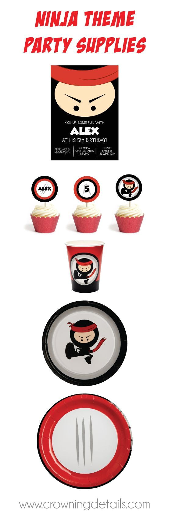 ninja party supplies browse this ninja party theme in our online store ninjapartysupplies