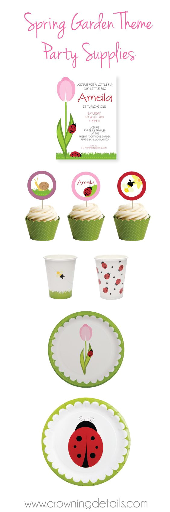 ladybug party supplies for your spring garden theme shop this collection in our online store