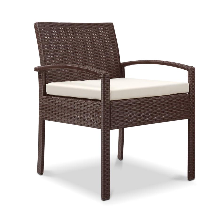 gardeon outdoor rattan chair brown