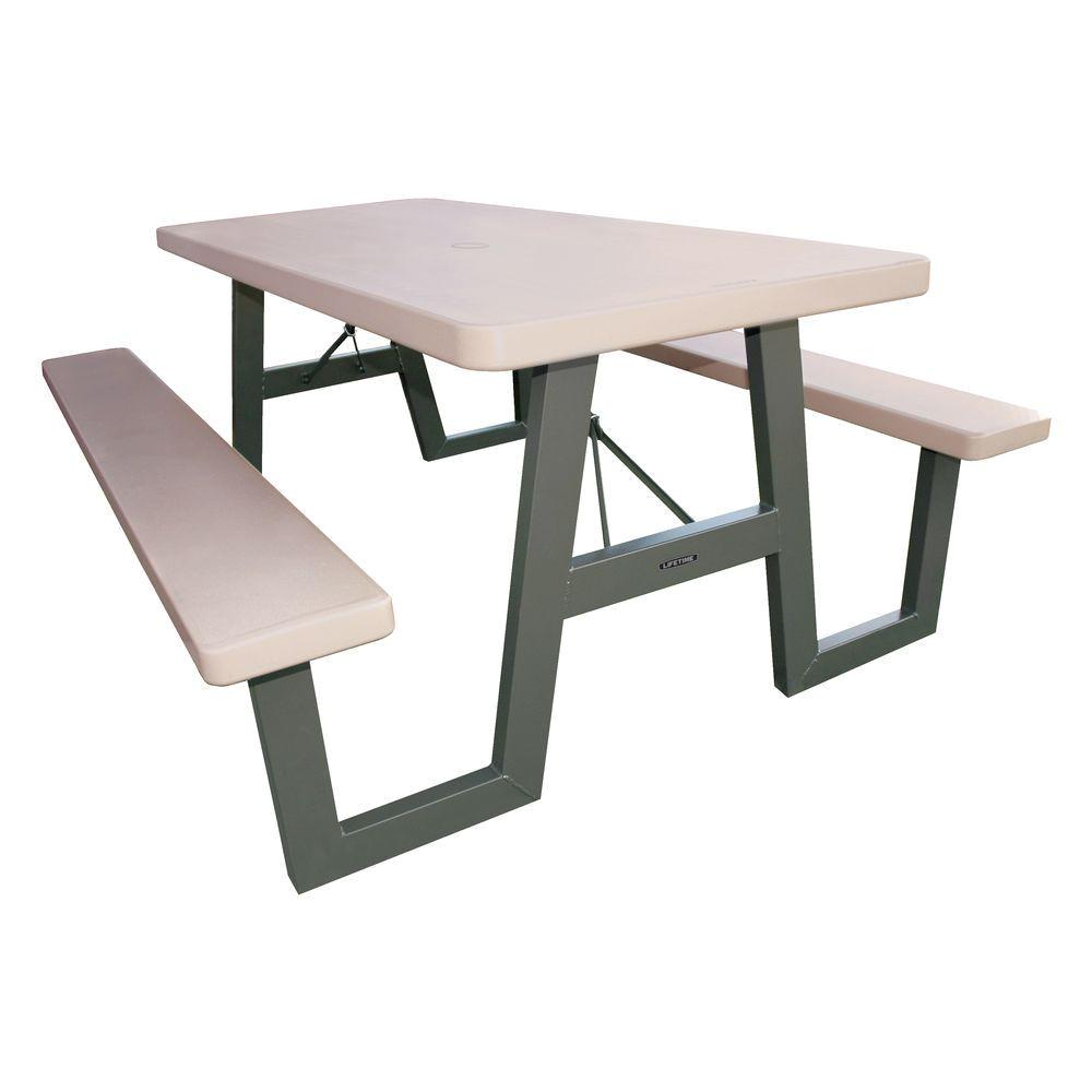 w frame folding picnic table