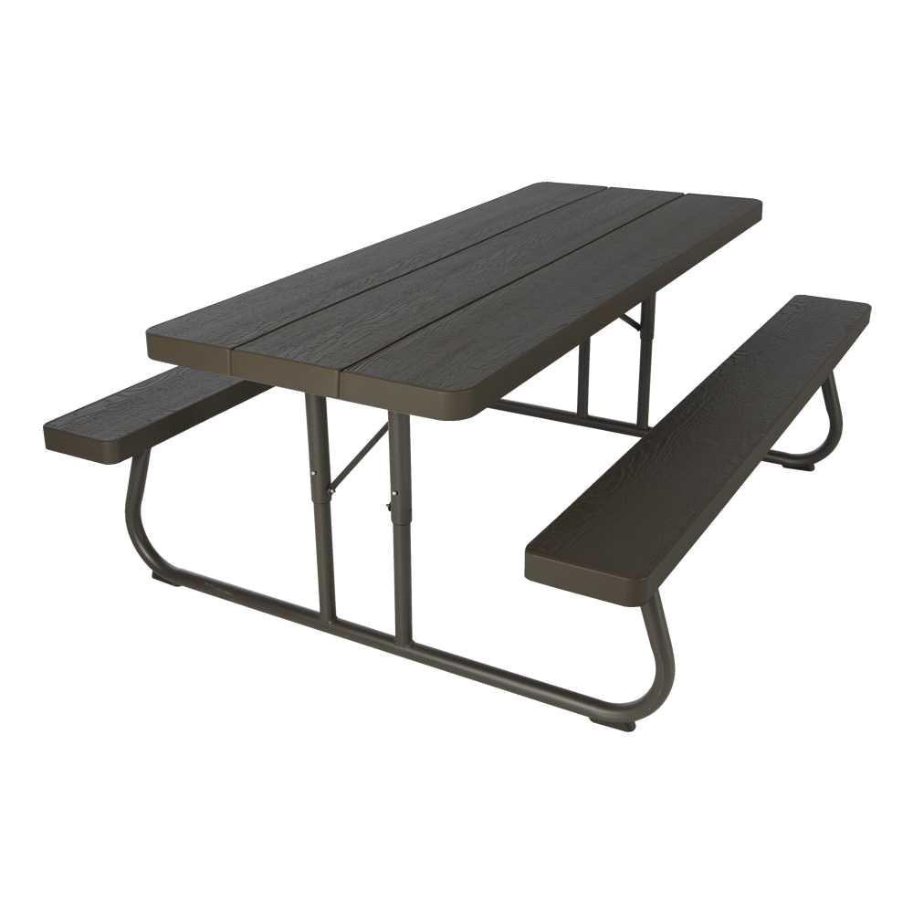 wood grain folding picnic table