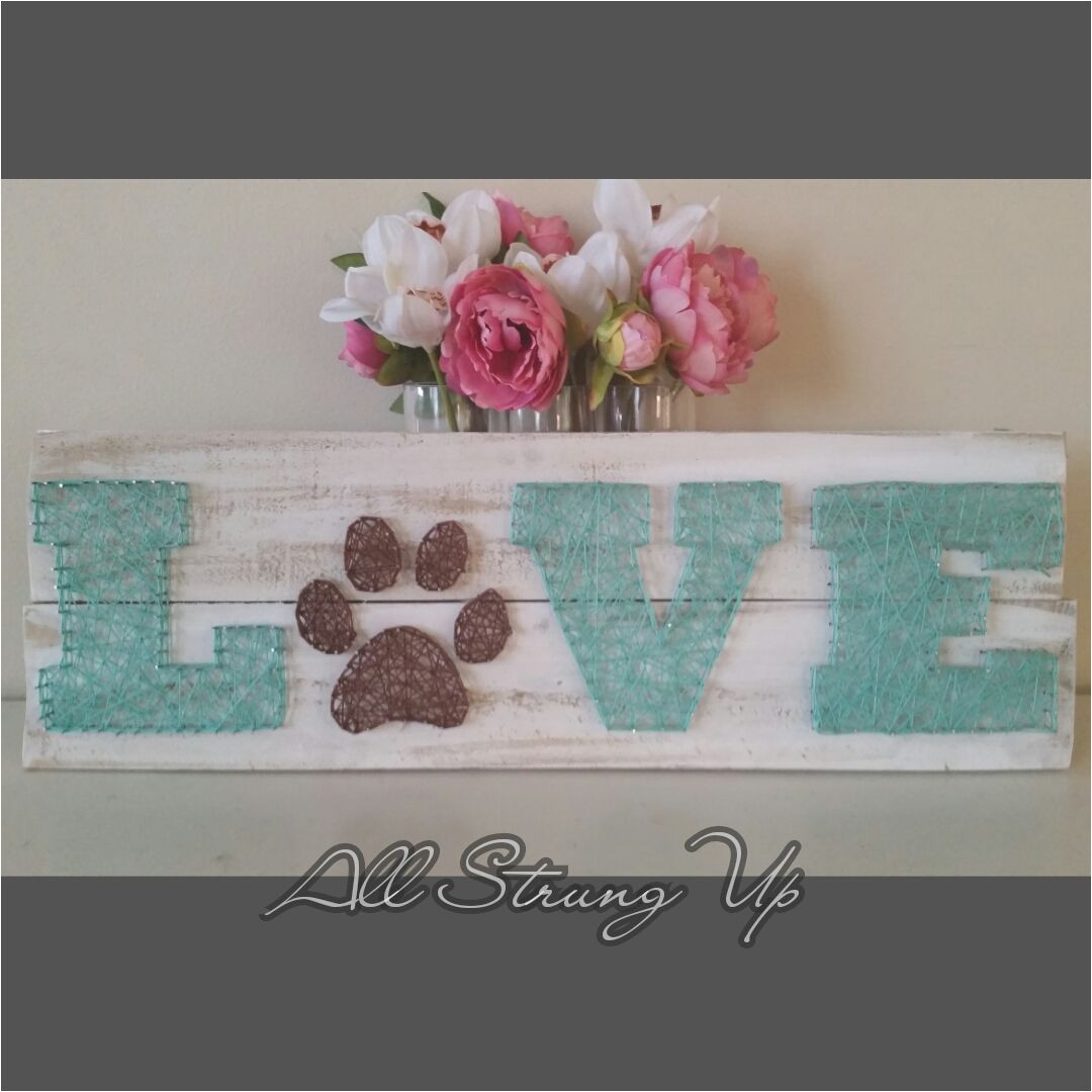 love paw print string art made by hand with love in nsw